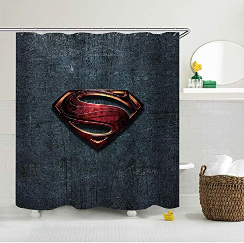 Aliyz Superman Logo Home Hotel Badezimmer Dekoration wasserdicht mehltaue Umweltschutz leicht zu pflegen duschvorhang Polyester Stoff 71x71 Zoll