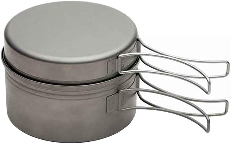 ZHAO ZHANQIANG Vaisselle de Camping Pique-Nique Camping Batterie de Cuisine Camping Ensemble en Plein air Portable (Couleur   argent)