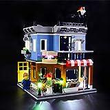 BRIKSMAX Kit de Iluminación Led para Lego Creator Corner Deli,Compatible con Ladrillos de Construcción Lego Modelo 31050, Juego de Legos no Incluido