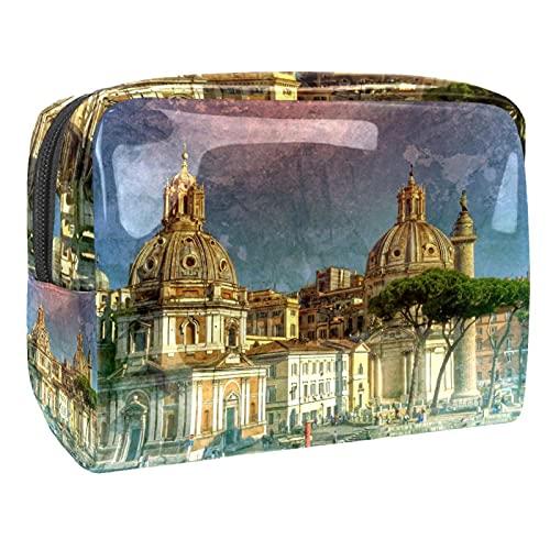 Trousse de Maquillage Voyage Makeup Cas Professionnel Sac Organiseur Rangement Cosmétique Portable Makeup Case Série Rome pour Femme Fille