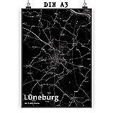 Mr. & Mrs. Panda Poster DIN A3 Stadt Lüneburg Stadt Black