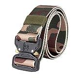 KUSUOU Cinturón de seguridad de cinturón de entrenamiento hebilla de liberación rápida cinturón de nylon de secado rápido