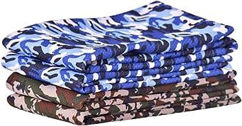 SHANDADDY Lot de 4 serviettes rafraîchissantes, serviette froide, serviette de refroidissement, serviette de fitness, camouflage 30 cm x 100 cm, séchage rapide, pour la course, le fitness, le yoga