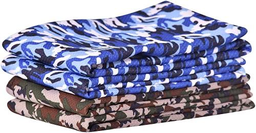 SHANDADDY Juego de 4 toallas de enfriamiento, toalla fría, toalla de frío, toalla de cuello, toalla de enfriamiento, fitness, camuflaje, 30 cm x 100 cm, secado rápido, para correr, fitness, yoga