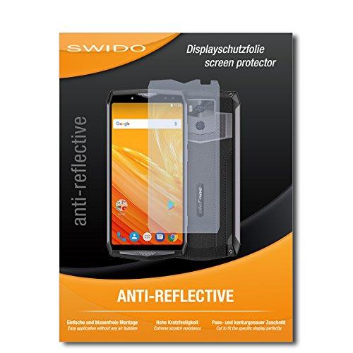 SWIDO Schutzfolie für Ulefone Power 5 [2 Stück] Anti-Reflex MATT Entspiegelnd, Hoher Festigkeitgrad, Schutz vor Kratzer/Bildschirmschutz, Bildschirmschutzfolie, Panzerglas-Folie