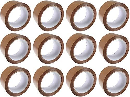 Britten and James Heavy Duty Cinta de embalaje extra pegajosa marrón. 48 mm x 66 m - Paquete de 24 rollos. Un sello fuerte y seguro para sus paquetes y cajas