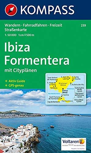 Kompass Karten, Ibiza - Formentera: Wanderkarte mit Stadtplänen, Aktiv Guide und Radrouten. GPS-genau. 1:50000 (KOMPASS-Wanderkarten, Band 239)