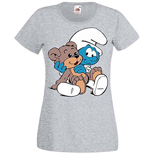 TRVPPY Damen T-Shirt Modell Baby Schlumpf Farbe Grau Größe XL