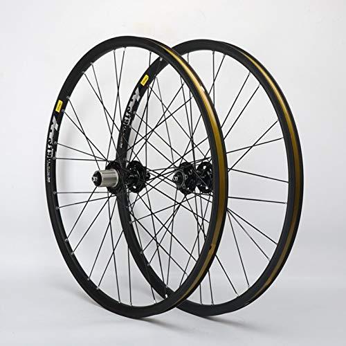 Xiami 26 Pulgadas Ruedas de la Bici MTB for Freno de Disco de Aluminio Llantas de Aluminio de 11 velocidades 4 Cubo de Cierre rápido (Rueda de la Rueda Delantera + Trasera) (Size : 26')