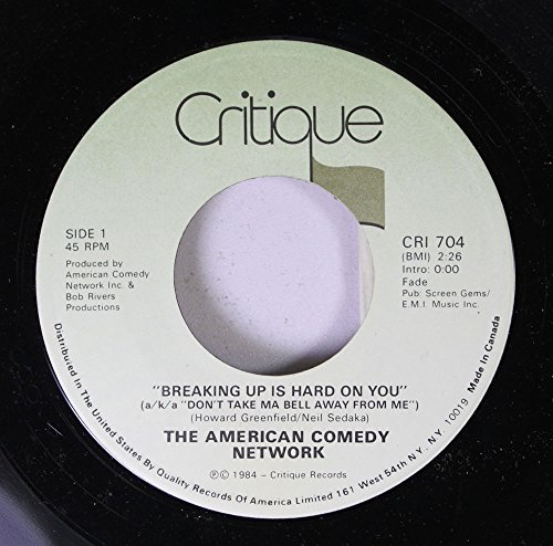 American Comedy Network 45 RPM Breaking up is hard on you / 1. KRAPCO'S MR . CARDBOARD TUBE