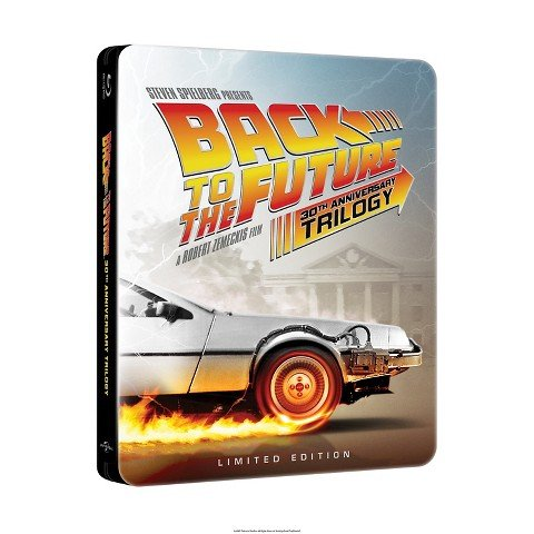 BACK TO THE FUTURE 30th Anniversary Complete Trilogy Steelbook (4-disc Blu-ray + Digital HD) [Target Exclusive Steelbook with Bonus Disc; Limited Edition]