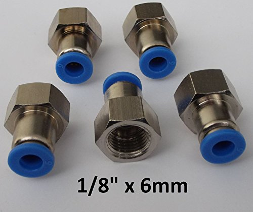5 Stück Steckverschraubung mit Innengewinde - Schnellsteckverbinder - Push In … (G 1/8