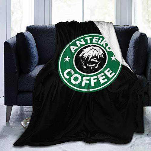 Gintamade Fleece deken gooien Kaneki Ken koffie pluche gooien deken