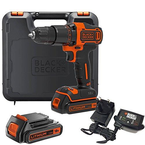 Black & Decker BCD700S 18v Cordless Combi Drill 2 x 1.5ah...
