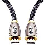 Câble HDMI Ultra HD 4K | High Speed par Ethernet | Full HD 1080P / 2160P / Professionnel / 3D TV /...
