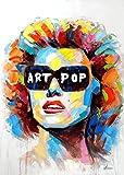 Marilyn Monroe Pop Art 100 x 70 cm – Arte moderno – Martin Klein – Pintura acrílica – Warhol Hommage – Cuadro de retrato – Arte moderno – pintado a mano y firmado
