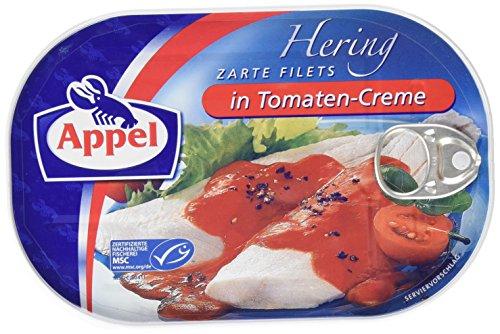 Appel Heringsfilets in Tomaten-Creme, 1er Pack Konserven, Fisch in Tomatencreme