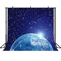FHZON 10x10フィート 拡張 星空背景幕 写真 地球 背景 テーマ パーティー 写真ブース 小道具 LXFH347