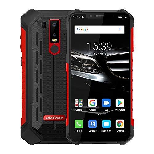 GuosB Teléfono dual SIM Armor 6E rugosa de teléfono, Dual 4G & VoLTE, 4 GB + 64 GB, IP68 / IP69K impermeable a prueba de polvo a prueba de choques, Cara ID e identificación de huellas dactilares, 5000