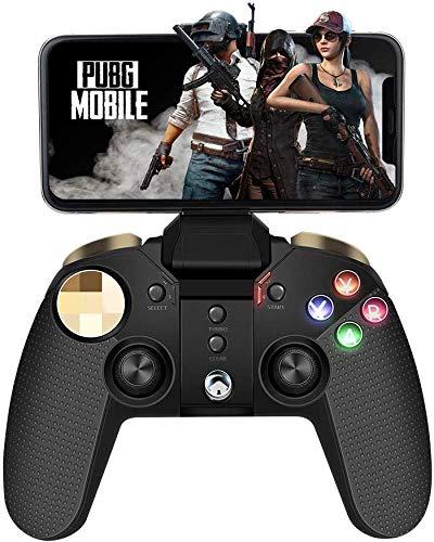 Mobiler Gamecontroller, PowerLead Joystick Multimedia-Gamecontroller Drahtloses Wireless Gamepad Kompatibel mit iOS Android-Handy-Tablet-PC-Android-TV-Box