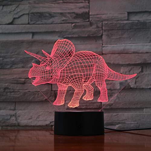Jiushixw 3D acryl nachtlampje met afstandsbediening van kleur veranderende tafellamp dinosaurus bal sfeerverlichting indoor baby tuin tafellamp herenshuis