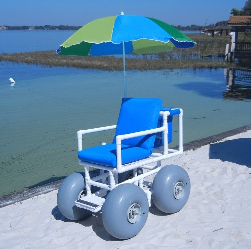 top rated Beach wheelchair (large tire) (blue) 2020