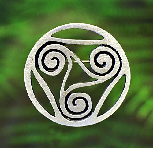 Celtic Spiral Pin   Celtic Symbols in Fine Pewter