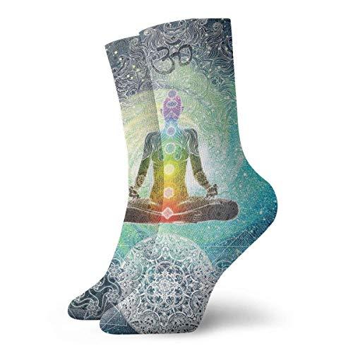 Calcetines Transpirable Yoga Diseño Hippie Estilo Crew Sock Exótico Moderno Mujeres y Hombres Impreso Deporte Atlético Calcetines 30 cm Calcetines