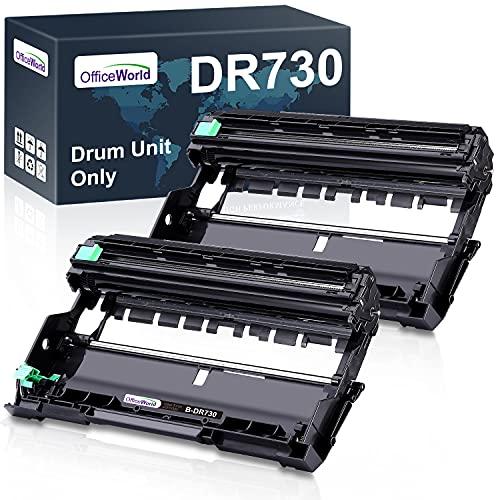 OfficeWorld Compatible Drum Unit Replacement for Brother DR730 DR 730 DR-730 for HL-L2395DW HL-L2370DW HL-L2350DW DCP-L2550DW MFC-L2710DW MFC-L2750DW HL-L2390DW (2 Drum Unit, Black)