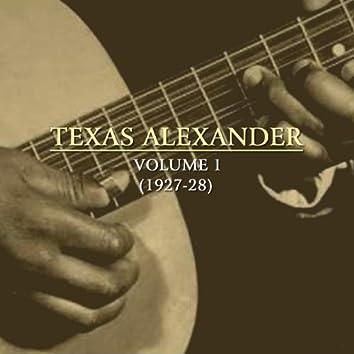 Texas Alexander, Vol. 1 (1927-28)
