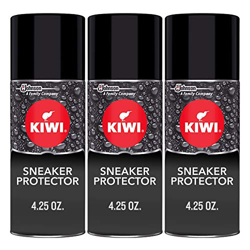 KIWI Sneaker and Shoe Waterproofer | For Shoes, Sneakers, Leather and More | Spray Bottle | 4.25 Oz | Pack of 3