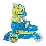 Inline-Skates Kinder Inliner Tri-Go mit LED Leuchtrollen Gr. 26-29 verstellbar