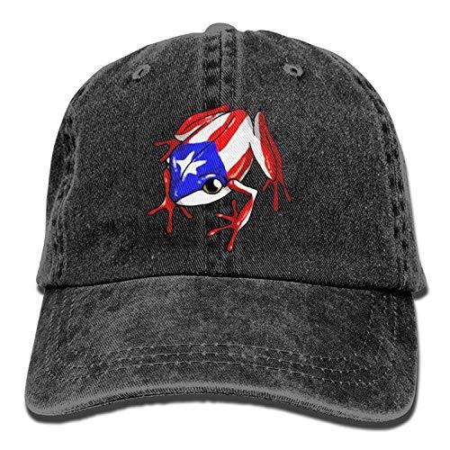 Osmykqe Coqui Puerto Rican Flag Trucker Cap Durable Baseball Cap Hats Adjustable Peaked Sandwich Cap GH937