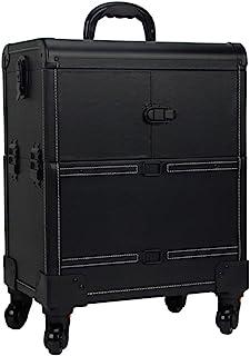 Trolley Rack Toolbox- Makeup Trolley Case, Rolling Makeup Travel Case, Beauty Make Up Bag, Cosmetic Organiser On Wheels (C...