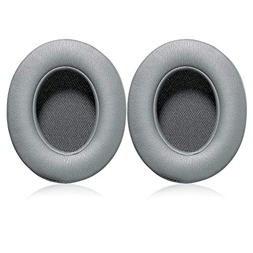Studio3.0 Replacement Earpads Ear Pad Cushion Cover Compatible with Beats by Dr.Dre Studio 2.0 Wired/Wireless & Studio 3.0 Over-Ear Headphones (Grey)