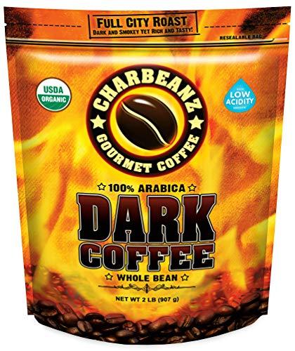 2LB Don Pablo CharBeanz Dark Coffee - Full City Roast - Whole Bean Coffee - Organic Certified by CCOF - Low Acidity -2 Pound (2 lb) Bag
