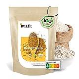 nur.fit by Nurafit BIO proteine vegane di riso 1kg - proteine in polvere di riso con contenuto proteico dell'86% - proteine in polvere vegan naturali senza additivi