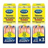 Scholl Crema de Pies Para Talones Agrietados, con Urea y Keratina - 3 unidades x 60ml