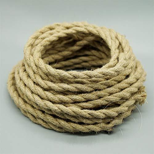 ZHaonan-Alambre de cobre 2 * 0.75mm, cable vintage tejido alambre eléctrico, cable...
