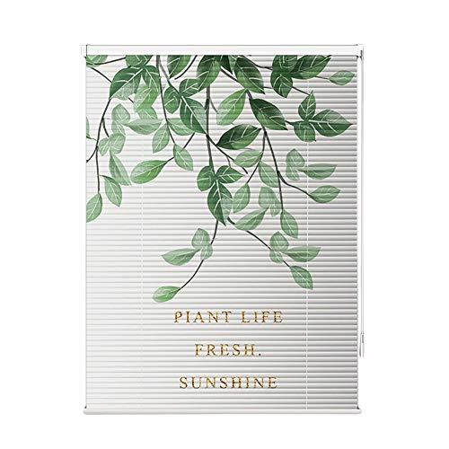 ZLI Aluminium Jalousie Blätter Muster Schlafzimmer Jalousien, Ausgezeichnete Aluminiumjalousie für Schlafzimmer, Wasserdicht Leicht zu Reinigen, Breit 60cm-140cm Optional (Size : 60×110cm)