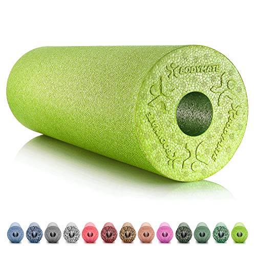 BODYMATE Foam Roller Standard Medio-Duro Lunghezza 45 cm Diametro 15 cm con ebook Gratuito - Vari Colori