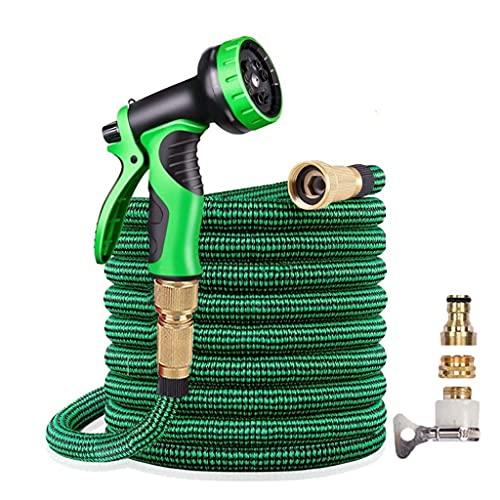 Release NIEUWE Tuin slang expandeerbare hoge druk auto wassen plastic pijp flexibele waterslang met spuitpistool voor watering (Color : A, Size : 125FT)