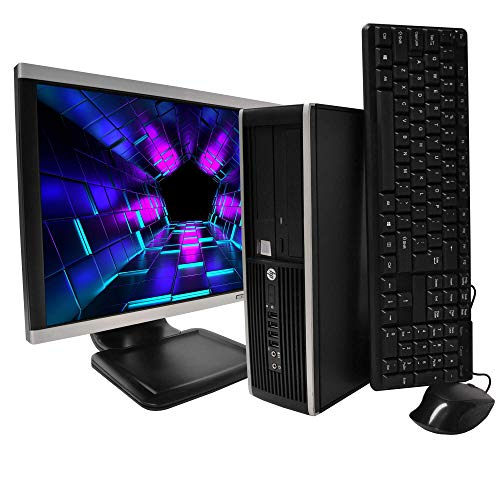 HP Elite Desktop Computer Package - Intel Core i5 3.2-GHz, 8GB RAM, 240GB Solid State Drive, 19 Inch LCD, DVD, Keyboard, Mouse, WiFi, Windows 10 Professional (Renewed)