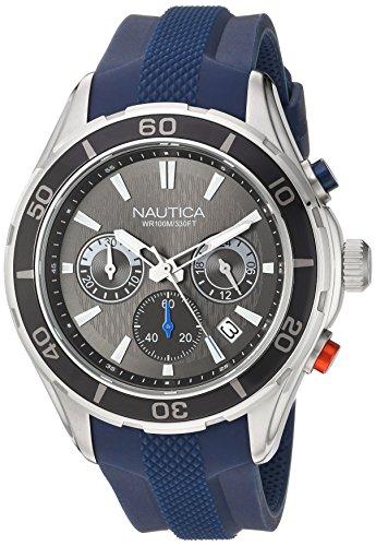 Nautica Reloj Analógico para Hombre de Cuarzo con Correa en Silicona 0656086079418
