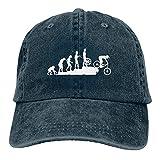 NCH UWDF Gorra de Mezclilla para Deportes de Descenso en Bicicleta de montaña Ajustable Snapback Unisex Llanura Sombrero de Vaquero de béisbol