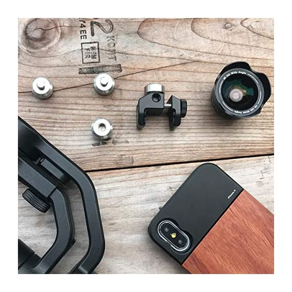 Universal 100g gimbal counterweight for balancing moment lens/phone case cover for zhiyun smooth 4 dji osmo mobile 2… 7 ►material: cnc made counterweights,anti-rust and durable to use. ►easy on easy off: 15mm-25mm universal mount can let you freely add flash, mic or other accessories but still balancing ►useage: enables you to add phone case or mobile lens setup on smartphone when use with gimbal.