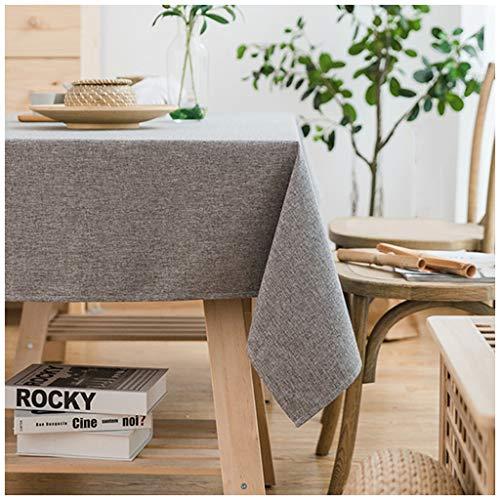 MeiMei Tissu Gris de Style Japonais en Coton et Lin, Nappe Anti-brûlante, Nappe rectangulaire, Tissu (Taille : 140X140CM)