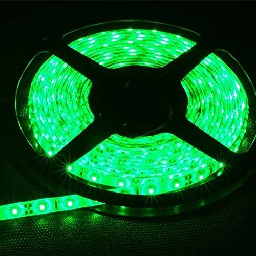FAVOLCANO LED Strip Light, Green IP65 Waterproof, 12V DC, SMD 3528, 300 LEDs, 60Leds/M, 16.4 ft/5M Flexible LED Tape for Thanksgiving, Christmas, Home, Car, Bar, Club, Indoor, Outdoor Decoration