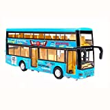 Black Temptation Kinder Spielzeugauto Doppelter Spielzeugbus mit Licht und Soundeffekten Blau -