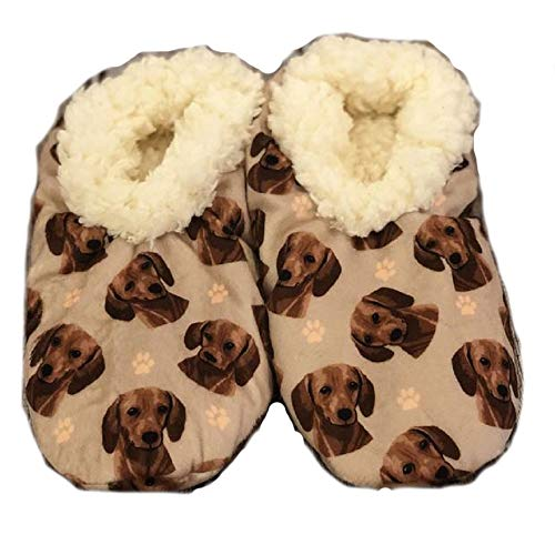 Dachshund Super Soft Womens Slippers - One Size Fits Most - Cozy House Slippers - Non Skid Bottom - perfect for Dachshund gifts